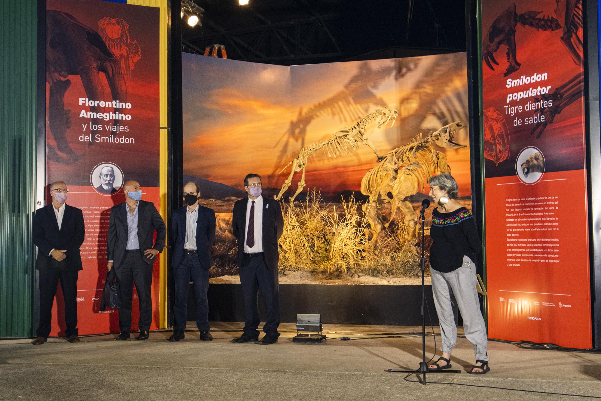 Participación del Museo en la inauguración en el espacio de Paleontología del predio de Tecnópolis – La Noche de las Ideas 2021